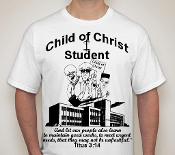 Student-Man-black image white ss shirt
