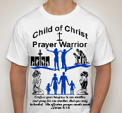 Prayer Warrior-Man-white ss shirt