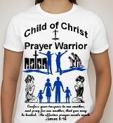 Prayer Warrior-Woman-white ss shirt