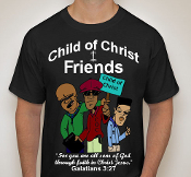 Friends-Man-Colored image-black ss shirt
