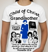 Grandmother-Woman-white ss shirt