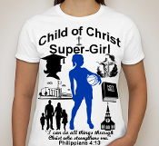 Super Girl Basketball-Woman-white ss shirt