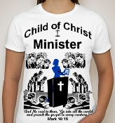 Minister-Women-white ss shirt