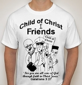 Friends-Youth-black image-white ss shirt
