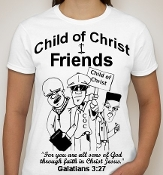 Friends-Woman-Black image-white ss shirt
